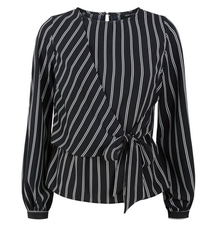 schwarz weiß gestreifte bluse