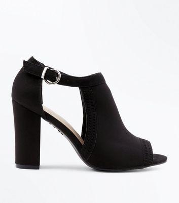 Comfort Flex Cut Out Peep Toe Heels