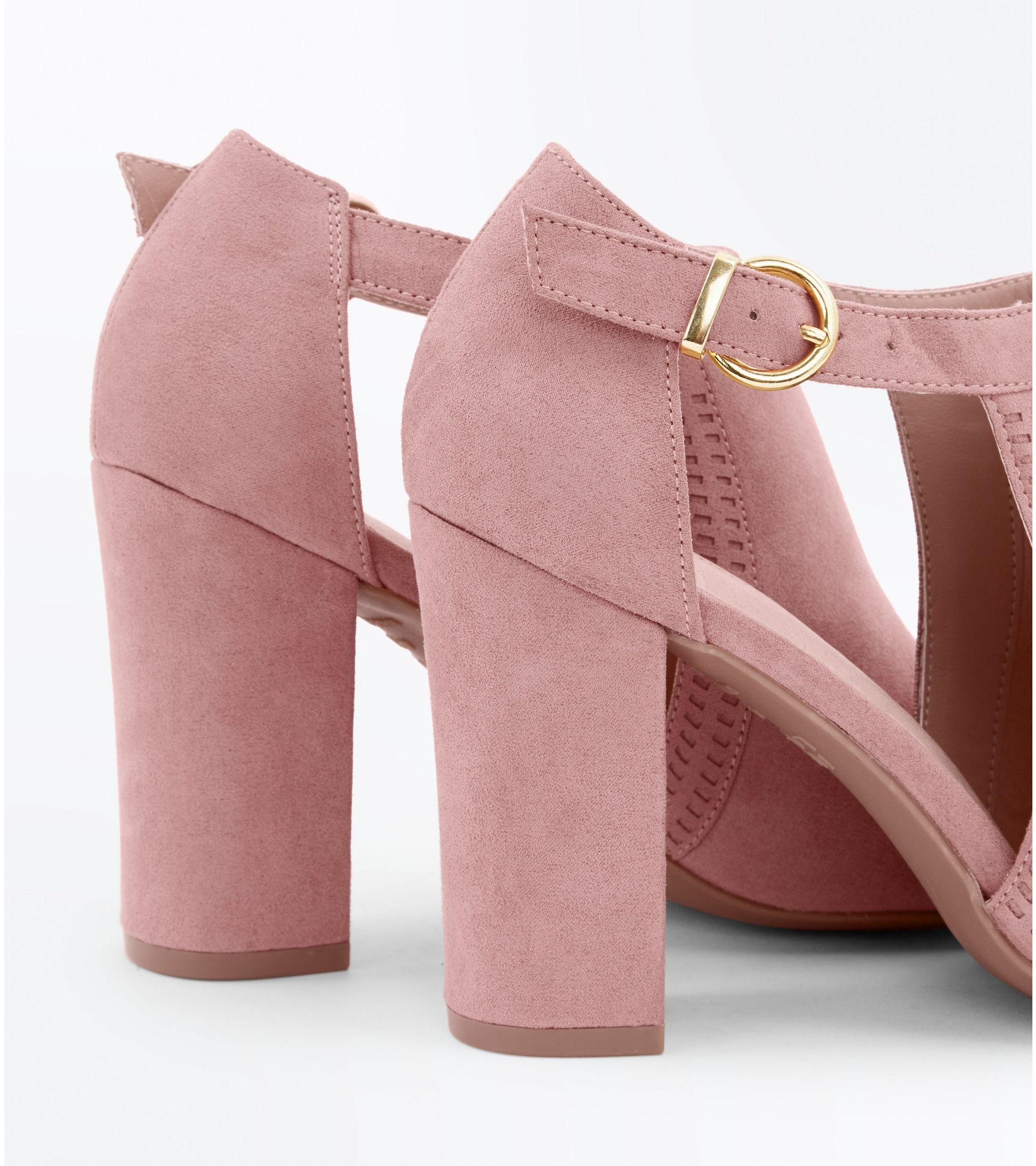 9c664071ffe26 New Look Pink Comfort Flex Cut Out Peep Toe Heels at £29.99