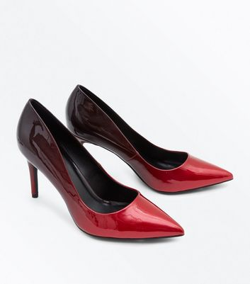 Red Patent Ombre Stiletto Courts New Look
