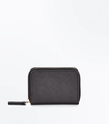 Black Leather-Look Card Holder