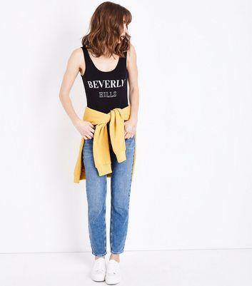 Black Beverly Hills Print Bodysuit New Look