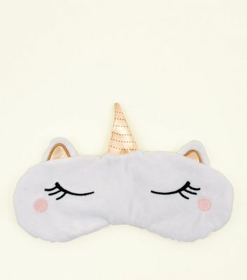 White Unicorn Eye Mask