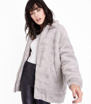 Manteau femme effet peluche