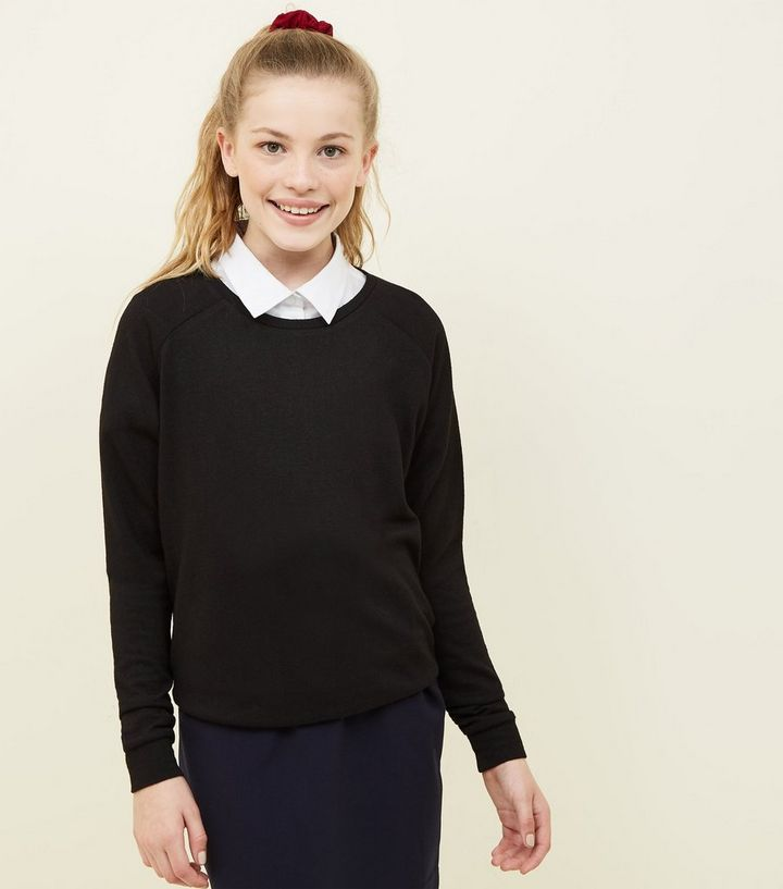 c4d68143b67 Girls Black School Jumper Add to Saved Items Remove from Saved Items