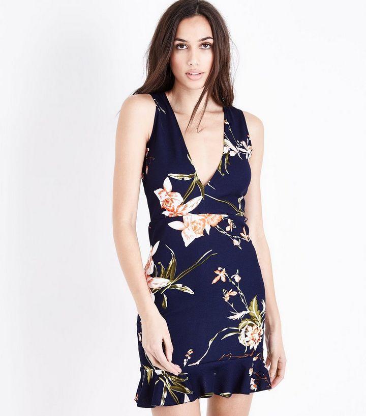 4a31af3ff8 AX Paris Floral Plunge Neck Mini Dress