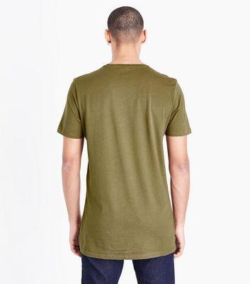 Khaki Harlem 1992 Logo T-Shirt New Look