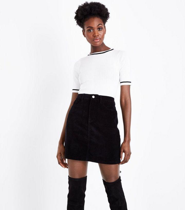 71ffac999b Black Corduroy Mini Skirt