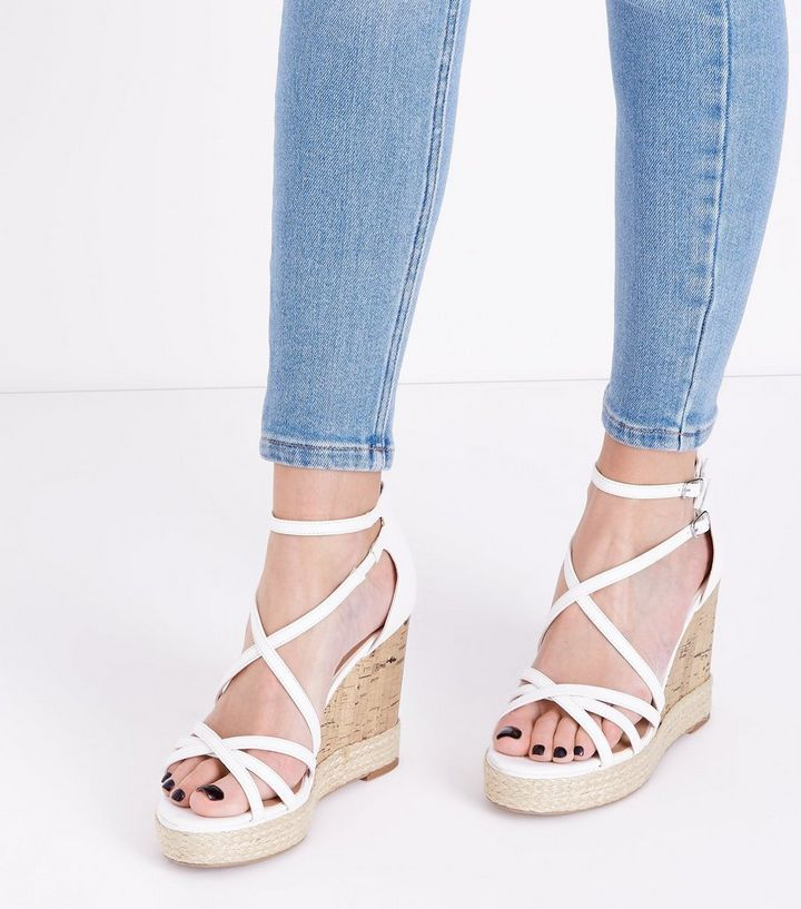 c41b07d5b ... Sandals · White Strappy Platform Espadrille Wedges. ×. ×. ×. Shop the  look