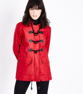 Red Toggle Front Anorak New Look