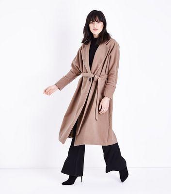 Manteau long camel femme new look