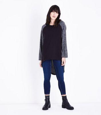 Lulua London Pale Grey Oversized Split Back Hem Top New Look