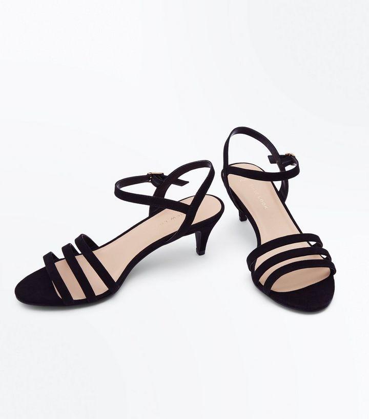 ab9ab671de11 ... Wide Fit Black Strappy Kitten Heel Sandals. ×. ×. ×. Shop the look