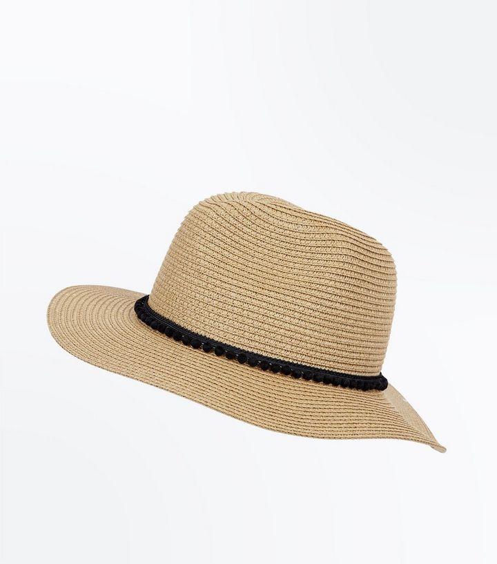d82e991a Tan Pom Pom Fedora Hat | New Look