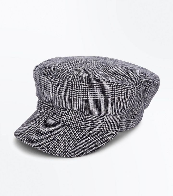 4f5c670ec2503 Black Prince Of Wales Check Baker Boy Hat