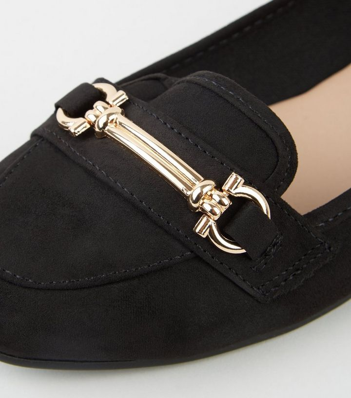 3dd99bfa6be26 ... Black Suedette Bar Front Loafers. ×. ×. ×. Shop the look