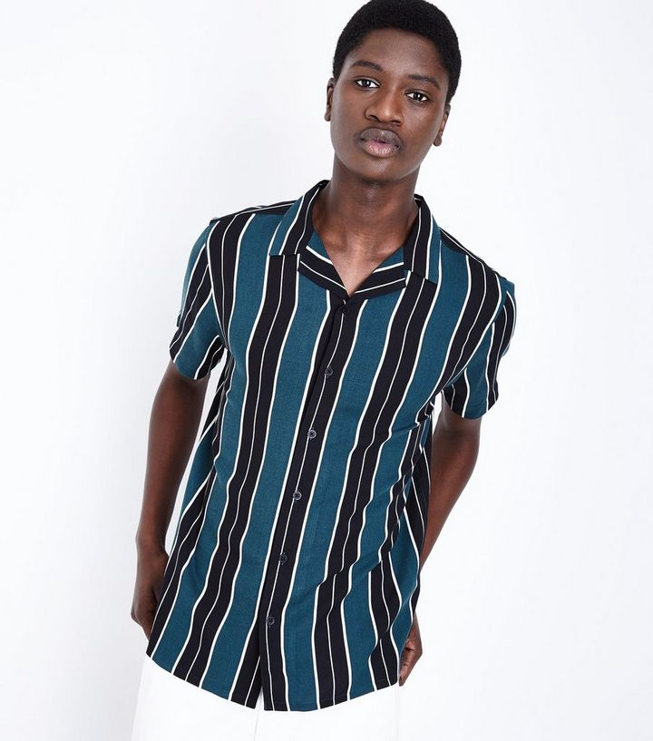 d93981bc23 Black and Green Vertical Stripe Shirt | New Look