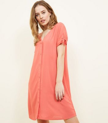 JDY Bright Pink Button Front Dress