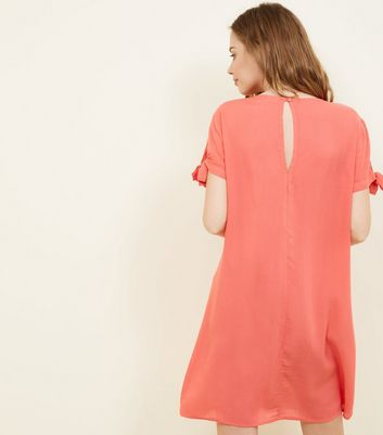 JDY Bright Pink Button Front Dress New Look
