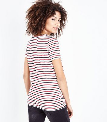 Maternity Red Stripe Short Sleeve T-Shirt New Look