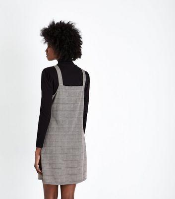 Tall Brown Check Print Pinafore Dress New Look