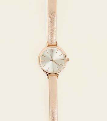 Pink Metallic Strap Analogue Watch
