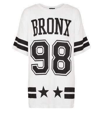 Teens White Bronx 98 Oversized T-Shirt New Look