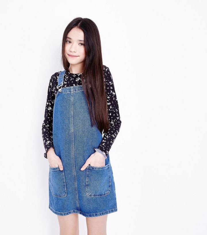 price remains stable hot-selling fashion new lifestyle Girls Blue Denim Pinafore Dress Add to Saved Items Remove from Saved Items