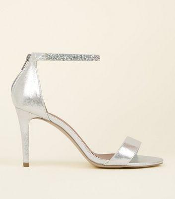 Wide Fit Silver Crystal Strap Wedding