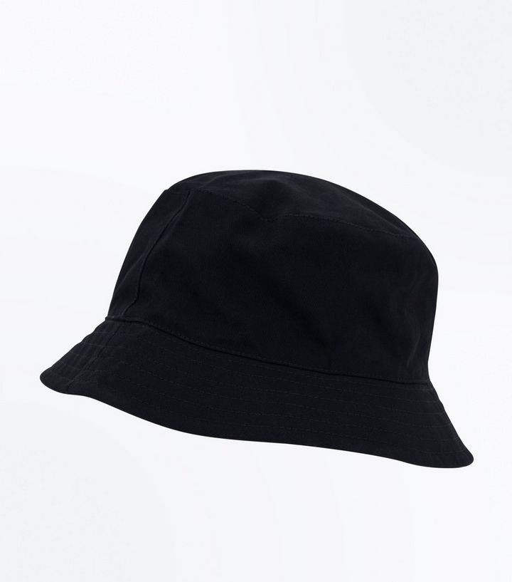 b5c0599aa18 Black Plain Bucket Hat