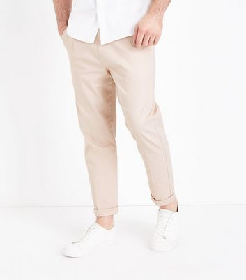 Stone Pleated Front Trousers