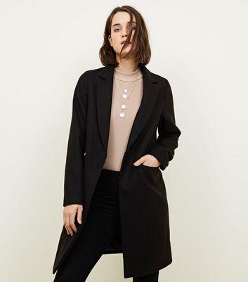 Manteau noir habillé à coupe droite Ajouter à la Wishlist Supprimer de la Wishlist