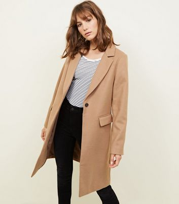 Camel Single Breasted Formal Coat