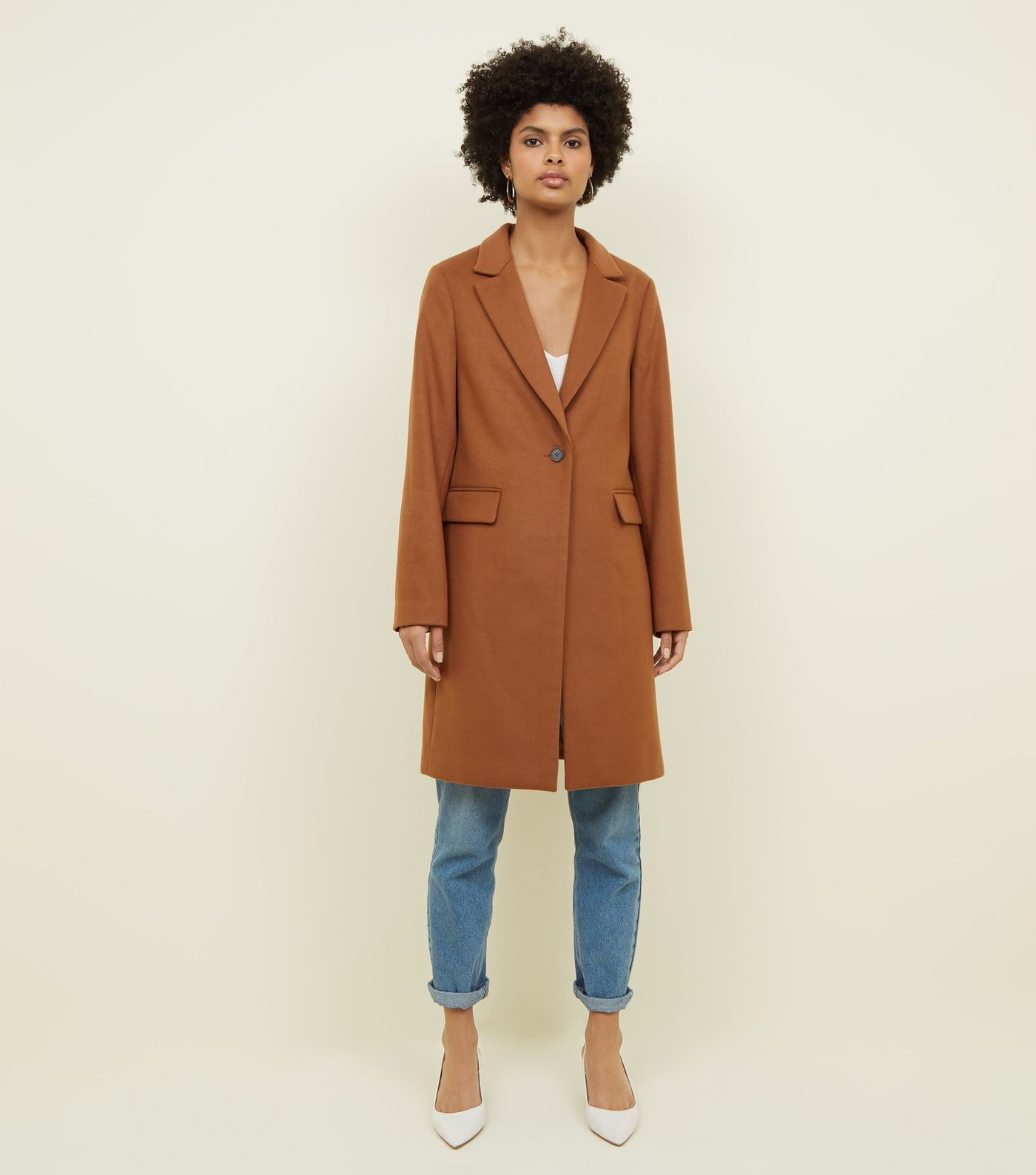 Tan Single Breasted Coat from New Look - Click Here a92b8890d