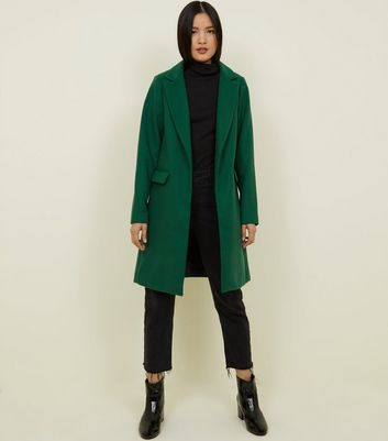 Green Single Breasted Formal Coat