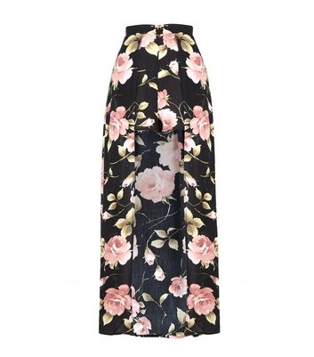 9db11bd491 Black Floral Maxi Shorts