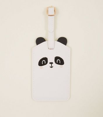 White Panda Luggage Tag