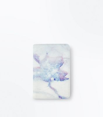 Pink Marble Effect Passport Holder