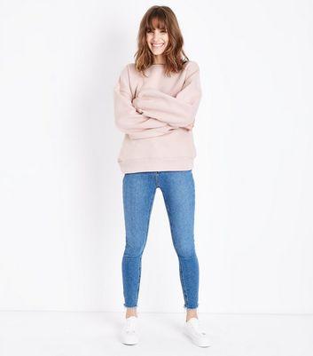 Pale Pink Balloon Sleeve Sweatshirt New Look