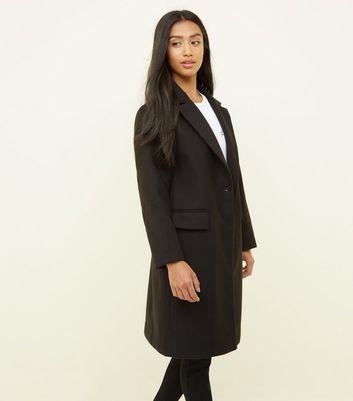 Petite Manteau longueur XL noir à col à revers Ajouter à la Wishlist Supprimer de la Wishlist