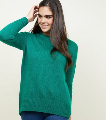 Tall Green Longline Knitted Jumper