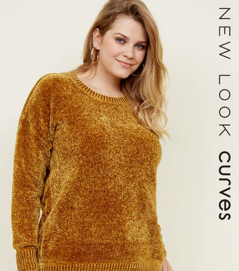 f15922a804c Curves Mustard Chenille Jumper · Curves Mustard Chenille Jumper ...