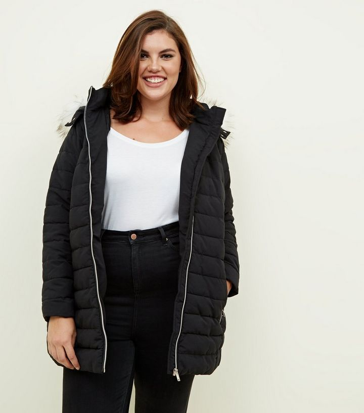 ea97c752ece Curves Black Longline Puffer Jacket Add to Saved Items Remove from Saved  Items