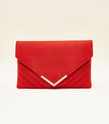 red-metal-trim-chain-shoulder-bag by new-look