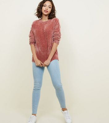 Pink Chenille Slouchy Jumper