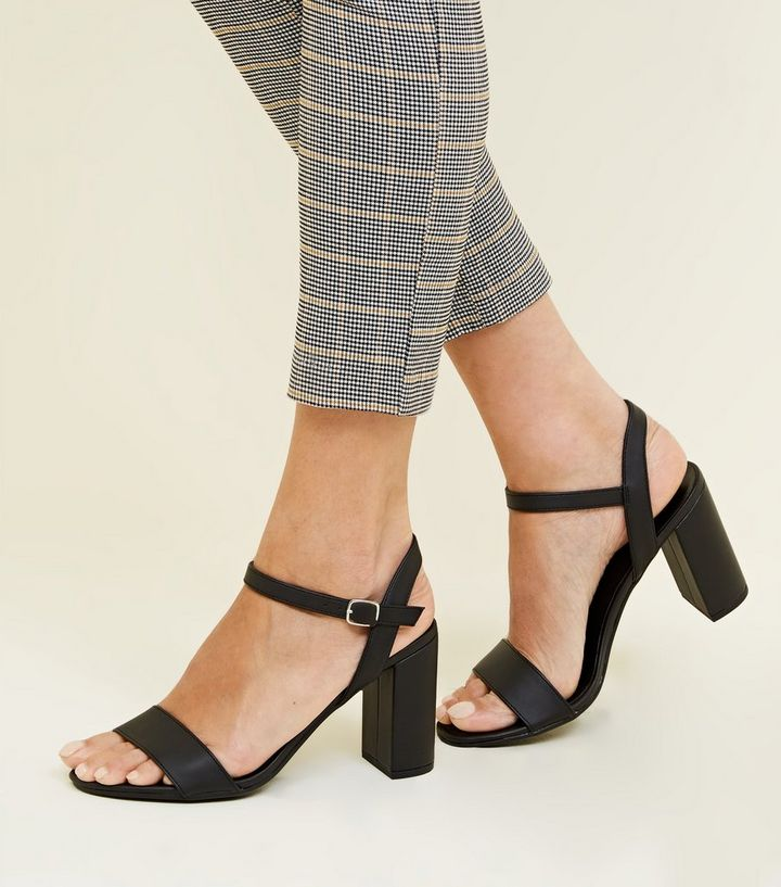 a70a14e3483 ... Black Two Part Block Heel Sandals. ×. ×. ×. Shop the look