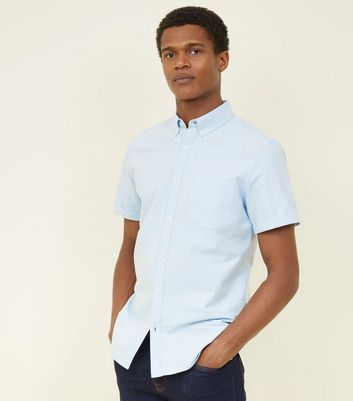 Pale Blue Oxford Short Sleeve Shirt