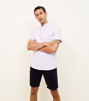Lilac Oxford Short Sleeve Shirt
