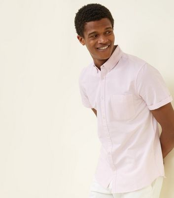 Pink Oxford Short Sleeve Shirt