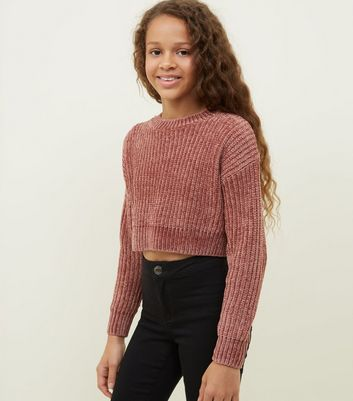 Girls Coral Chenille Jumper